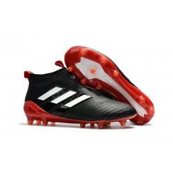 Adidas ACE 17+ PureControl FG Scarpe da Calcio - Nero Rosso Bianco