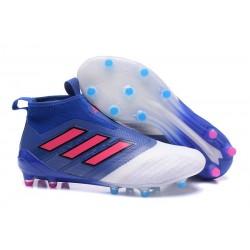 Scarpa Adidas ACE 17+ PureControl FG Uomo - Blu Bianco Rosa