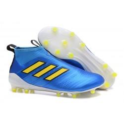 Scarpa Adidas ACE 17+ PureControl FG Uomo - Blu Giallo
