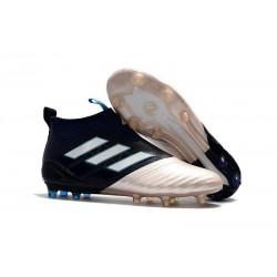 Adidas Scarpa ACE 17+ Pure Control FG Laceless - Nero Oro