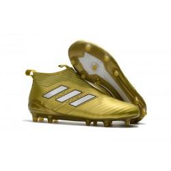 Adidas Scarpa ACE 17+ Pure Control FG Laceless - Oro Bianco