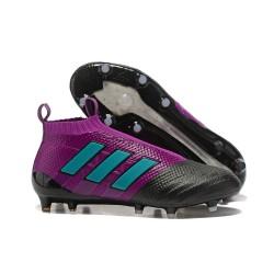 Adidas Scarpa ACE 17+ Pure Control FG Laceless - Viola Nero Blu