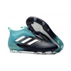 Adidas ACE 17+ PureControl FG Scarpe da Calcio Uomo - Nero Blu Bianco