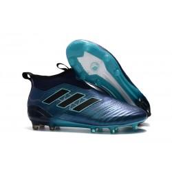 Adidas ACE 17+ PureControl FG Scarpe da Calcio Uomo - Ciano Blu