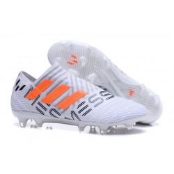 Adidas Nemeziz Messi 17 + 360 Agility FG Scarpe da Calcio - Bianco Arancione Grigio