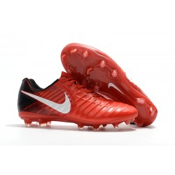 Nike Tiempo Legend VII FG Scarpe da Calcio Uomo - Rosso Bianco