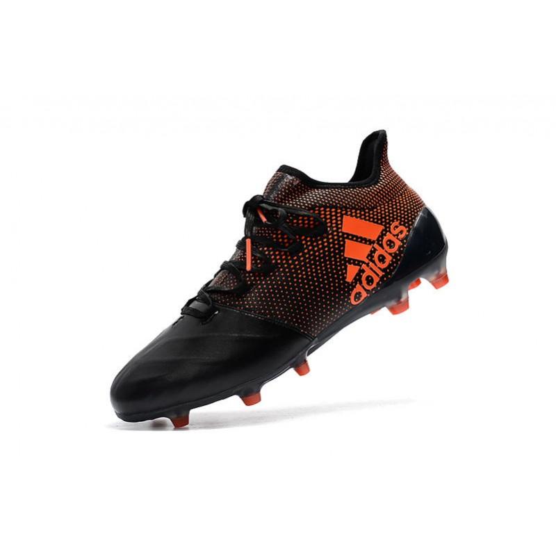 Adidas Scarpe Calcio X 17.1 FG Techfit Nero Arancio