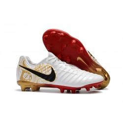 Scarpe da Calcio Nike Tiempo Legend VII FG ACC - Bianco Oro Nero