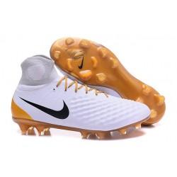 Nike Scarpa Magista Obra 2 FG ACC Uomo - Bianco Oro