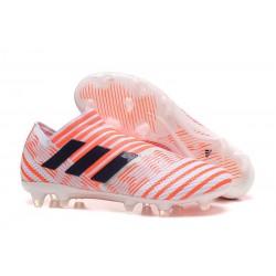 Adidas Nemeziz Messi 17 + 360 Agility FG - Bianco Arancio Nero