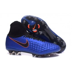 Nike Nuove Magista Obra II FG Scarpini da Calcio - Blu Nero