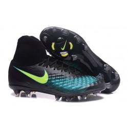 Nike Nuove Magista Obra II FG Scarpini da Calcio - Nero Blu