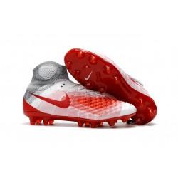 Nike Nuove Magista Obra II FG Scarpini da Calcio - Bianco Rosso