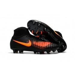 Nike Nuove Magista Obra II FG Scarpini da Calcio - Nero Arancio