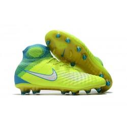 Nike Magista Obra 2 FG Scarpe da Calcetto - Giallo Blu