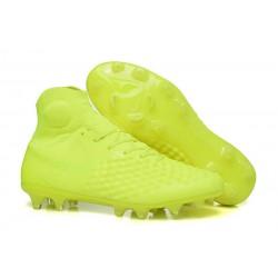 Nike Magista Obra II Dynamic Fit FG Scarpa - Tutto Giallo