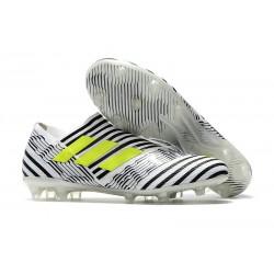 Adidas Nemeziz Messi 17 + 360 Agility FG Scarpe - Bianco Nero Giallo