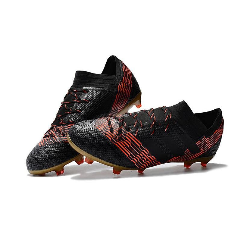adidas Nemeziz Messi 17.1 FG Scarpe da Calcio Nero Rosso Oro