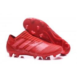 Leo Messi Scarpa Adidas Nemeziz 17 + 360 Agility FG - Rosso
