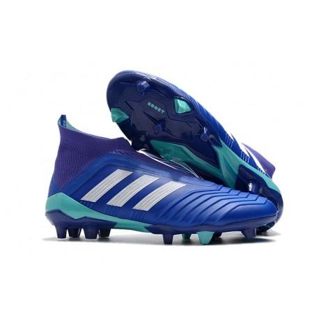 1 Predator Top Calcio Adidas di Scarpe Football Primeknit gamma 18 Blu FG q1w4XU