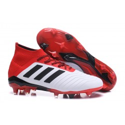 adidas Predator 18.1 FG Scarpe da Calcio - Bianco Rojo Nero