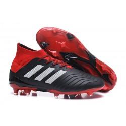 adidas Predator 18.1 FG Scarpe da Calcio - Nero Bianco Rosso