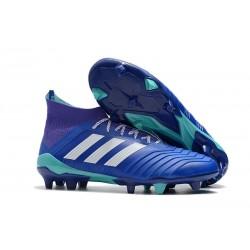 adidas Predator 18.1 FG Scarpe da Calcio - Blu Bianco