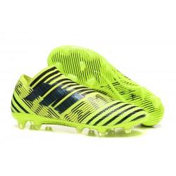 Leo Messi Scarpa Adidas Nemeziz 17 + 360 Agility FG - Verde Nero