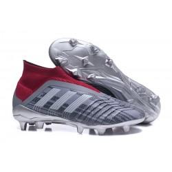 Adidas Predator 18+ FG Scarpa da Calcio Pogba Grigio Rosso