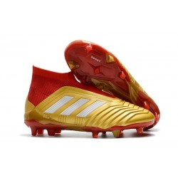 Adidas Predator 18+ FG Scarpa da Calcio Oro Rosso