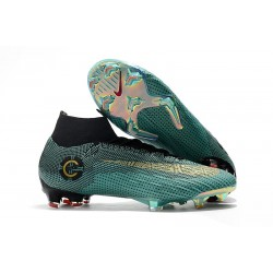 Cristiano Ronaldo Nike Scarpe Mercurial Superfly 6 360 Elite FG - Blu Nero Oro
