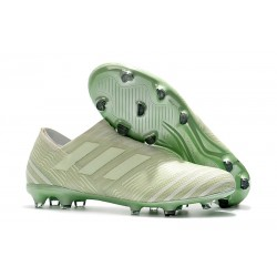 Scarpe Nuovo Adidas Nemeziz 17 + 360 Agility FG - Bianco Verde