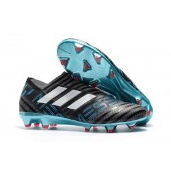 Scarpe Nuovo Adidas Nemeziz 17 + 360 Agility FG - Nero Bianco Blu