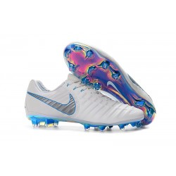 Scarpe da Calcio Nike Tiempo Legend VII FG ACC - Bianco Blu