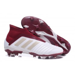 Adidas Predator 18+ FG Scarpa da Calcio Bianco Rosso