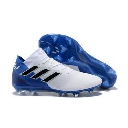 Coppa del Mondo Scarpa adidas Nemeziz 18.1 FG - Bianca Blu