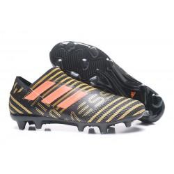 Leo Messi Scarpa Adidas Nemeziz 17 + 360 Agility FG -Nero Oro Arancio