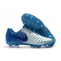 Scarpe da Calcio Nike Tiempo Legend VII FG ACC - Metallico Blu