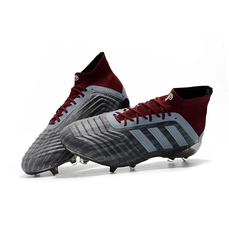 Pogba adidas PP Predator 18.1 FG Scarpe Gris Rosso