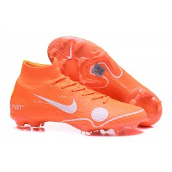 Nike Mercurial Superfly VI DF Elite FG 2018 Off-White Arancio