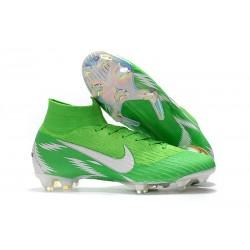 Scarpe Nuovo Nike Mercurial Superfly VI 360 Elite FG (Verde Argento)