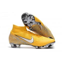 Scarpe Nuovo Neymar Nike Mercurial Superfly VI 360 Elite FG (Giallo Bianco)