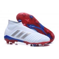 Adidas Predator Telstar 18+ FG Scarpa da Calcio Bianco Argento