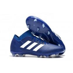 Coppa del Mondo Scarpa adidas Nemeziz 18.1 FG - Blu Blanc