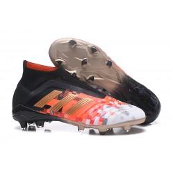 Adidas Predator 18+ FG Scarpa da Calcio Telstar Nero Rojo Oro