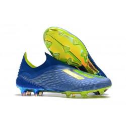 Scarpe da Calcio adidas X 18+ FG Uomo - Blu Verde