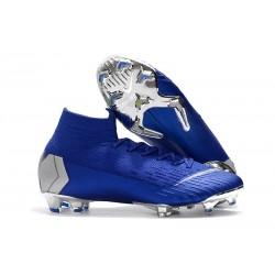 Nike Mercurial Superfly 6 Elite FG Scarpa Uomo - Blu Argento