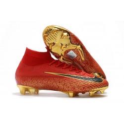 Nike Mercurial Superfly 6 Elite FG Scarpa Uomo - Rosso Oro Nero