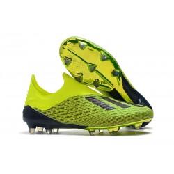 Scarpe da Calcio adidas X 18+ FG Uomo - Verde Nero
