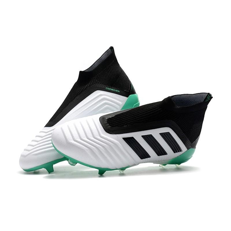 Scarpe Adidas Predator 18+ FG Bianca Verde